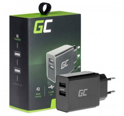 Green Cell Ładowarka 2xUSB Szybkie Ładowanie iQ Smart Charging CHAR02