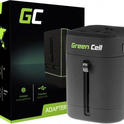 Green Cell Ładowarka Przejściówka do Gniazdka Elektrycznego 2xUSB AK40