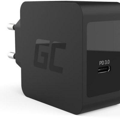 Green Cell Ładowarka sieciowa CHAR07 USB-C 18W PD czarna CHAR07