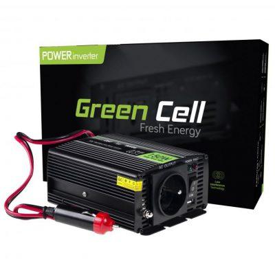 Green Cell Przetwornica samochodowa Green Cell 12V do 230V 150W/300W INV06