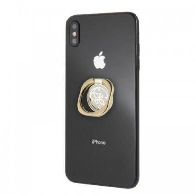 Guess Metal Ring Stand 4G - Magnetyczny uchwyt na palec do telefonu z funkcją standu (złoty/biały)