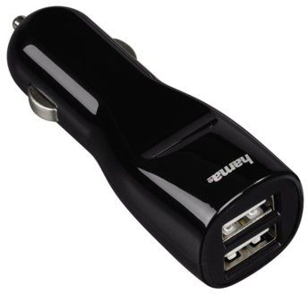 HAMA Ładowarka samochodowa 2x USB 3.1A Czarny