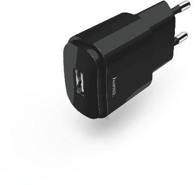 Hama Ładowarka sieciowa USB 230v 1,2A Czarny (00183260)