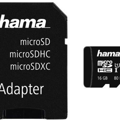 Hama MicroSDHC Class 10 16GB (124138)