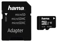 Hama MicroSDHC Class 10 16GB (microSDHC 16GB Class 10 UHS-I 80MB/s + adapter)