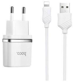 HOCO 2.4A Szybka Ładowarka iPhone 5S SE 6S 7 8 X Zestaw