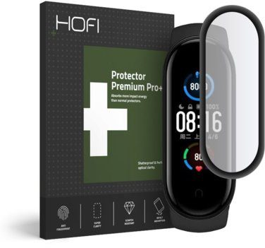 HOFI Szkło hybrydowe HOFI Flex Glass do Xiaomi Mi Band 5 Czarny