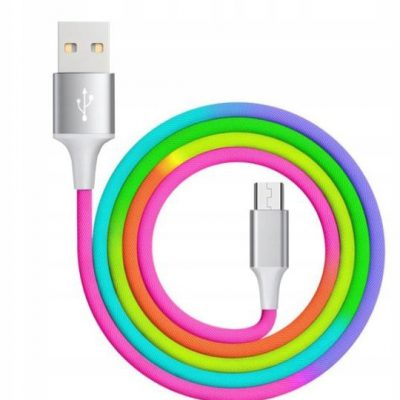 HQ Kabel Pc Micro Usb 1m Rainbow Qc 3.0