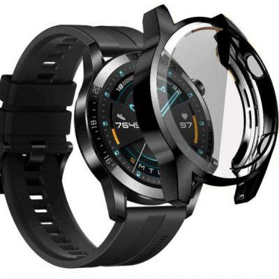HUAWEI Alogy Etui silikonowe Alogy case do Watch GT 2 Sport Classic 46mm Czarne 8231X10