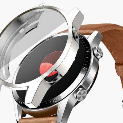HUAWEI Alogy Etui silikonowe Alogy case do Watch GT 2 Sport Classic 46mm Srebrne 8231X27