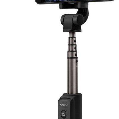 Huawei Honor 2w1 AF15 Selfie Stick + Tripod teleskopowy statyw Bluetooth czarny