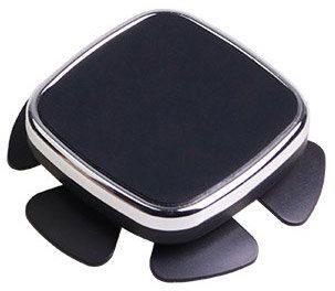 Hurtel Samoprzylepny samochodowy uchwyt magnetyczny przyklejany na kierownicę na telefon srebrny
