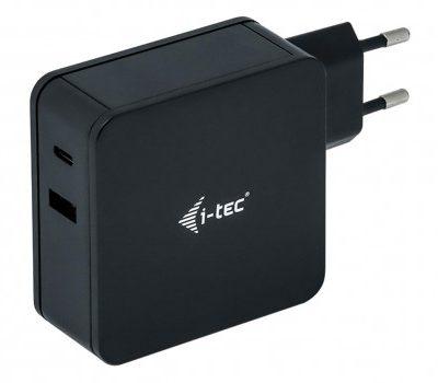 i-tec Ładowarka USB-C 60W uniwersalny zasilacz + USB-A Port 12W