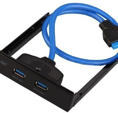 i-tec USB 3.0 extender na przedni panel 2 porty USB 3.0. typ A podłączenie do wewnętrznego złącza USB 3.0 przewód 45cm U3EXTEND