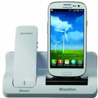 iCreation Zestaw do Creation G-500Docking Station z modułem Bluetooth ręcznie i Samsung Galaxy Biały 6921070443679
