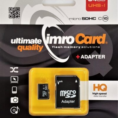 IMRO MicroSD 64GB UHS-I + adapter (KOM000517)