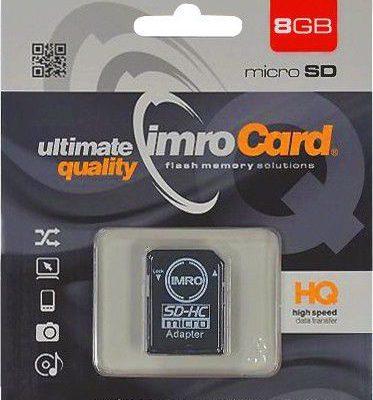 IMRO MicroSDHC Class 4 8GB + adapter (KOM000464)
