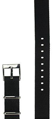 Incipio Nato Style wysokiej jakości nylonowy pasek do wszystkich modeli zegarka Apple Watch 38 mm [Apple Watch   Apple Watch Edition] czarny/srebrny WBND-015-BLKSLV