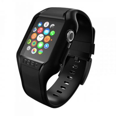 Incipio NGP Strap - Elastyczny Pasek do Apple Watch 38mm (czarny) WBND-008-BLK