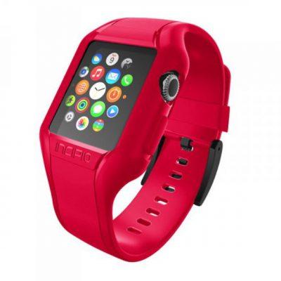 Incipio NGP Strap - Elastyczny Pasek do Apple Watch 38mm (czerwony) WBND-008-RED