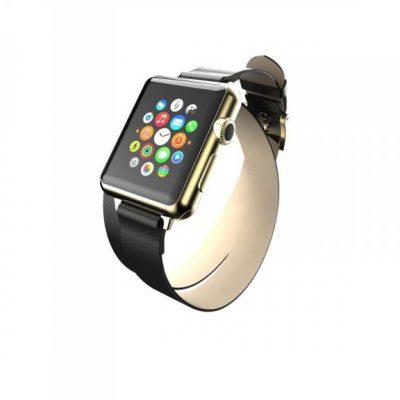 Incipio Reese Double Wrap - Skórzany Pasek do Apple Watch 38mm (czarny) WBND-003