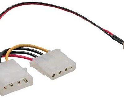 InLine przewód wentylatory adapter, 3pin wentylatora do 4PI