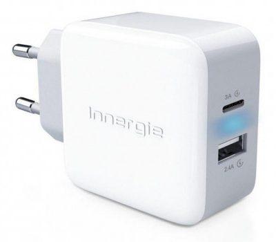 Innergie Ładowarka sieciowa 27W USB-C 3.A USB 2.4A EU