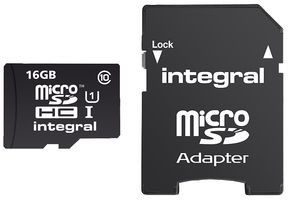 Integral MicroSDHC Class 10 Ultima Pro 16GB + adapter (INMSDH16G10-90U1)