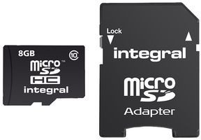 Integral MicroSDHC Class 10 Ultima Pro 8GB + adapter (INMSDH8G10-90U1)