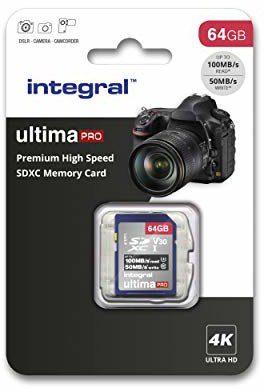 Integral na karta SD 256 GB, Premium 4K, SDXC szybka karta pamięci do 100 MB/s, V30, UHS-I, U3 64 gb