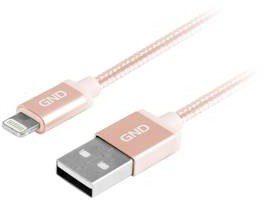 Kabel GND USB lightning MFI 1m opletený LIGHTN100MM06) Złoty