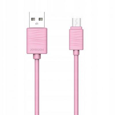 Kabel Joyroom JR-S118 Usb microUSB 1m 2,4A różowy