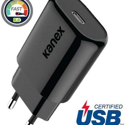 Kanex GoPower - Ładowarka sieciowa USB-C (Power Delivery) 18 W (czarna) K160-1526-EUBK