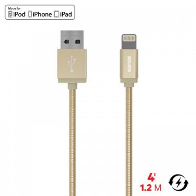 Kanex Kanex Premium DuraFlex Lightning - Kabel MFi z Lightning do USB, 1.2 m (Gold) K157-1160-GD4F