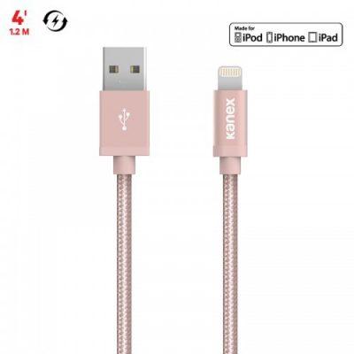 Kanex MiColor Premium Lightning - Kabel MFi z Lightning do USB 1,2 m (Rose Gold) K157-1025-RG4F