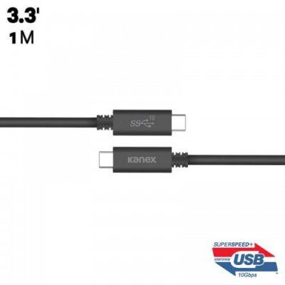 Kanex USB-C ChargeSync Cable - Kabel USB-C do ładowania & synchronizacji danych, 5.0 A, 10 Gbps, 1 m (Black) K181-1080-BK1M