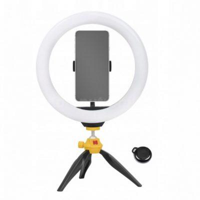 Kodak Kodak LED Ring Light Selphie 10 SL001 + Statyw Pilot Czarny SB6083