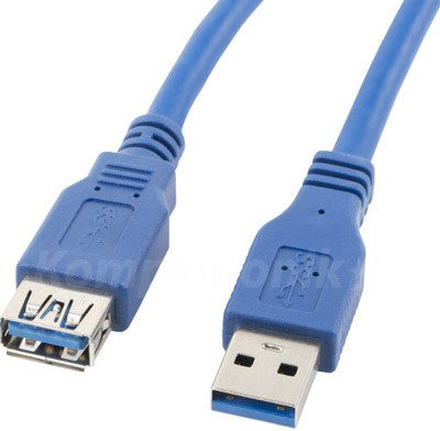 LANBERG Lanberg USB 3.0m niebieski (CA-US3E-10CC-0030-B)