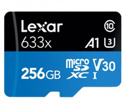 Lexar 256GB microSDXC High-Performance 633x UHS-I A1 V30