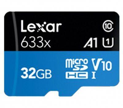Lexar 32GB microSDHC High-Performance 633x UHS-I A1 V10 (LSDMI32GBB633A)