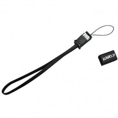 Logo Kabel USB 2.0 USB A M USB micro M 0.3m czarny Logo smysz na telefon KVUM005W0L
