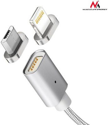 Maclean Kabel micro USB magnetyczny silver MCE160 Quick & Fast Charge