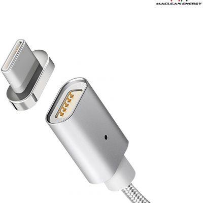 Maclean Maclean Kabel USB Type-C magnetyczny srebrny MCE178 AKMCLKUSBMCE178