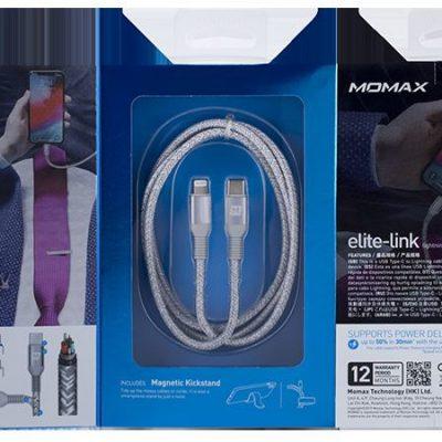 MOMAX MOMAX Elite Link kabel połączeniowy USB-C na Lightning MFi 1,2 m 0041381