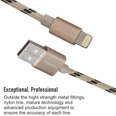 MOMAX Momax Elite link - Kabel USB do Lightning MFi + stojak 1m (złoty) DDMMFILFPL