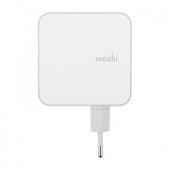 Moshi ProGeo USB-C Wall Charger Ładowarka sieciowa USB-C PD 30 W) USB-A 12 W) z możliwością wymiany adaptera EU) 99MO022117