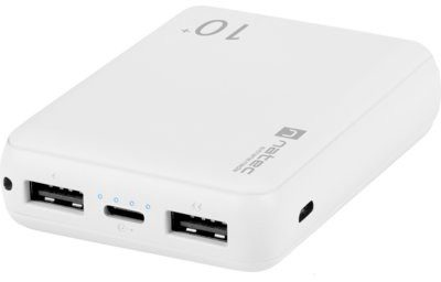 Natec EM Powerbank EXTREME MEDIA Trevi Compact 10000 mAh Biały