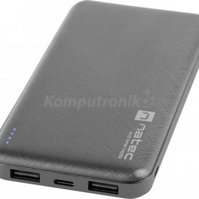 Natec Extreme Media Trevi 10000 mAh 2X USB-A + 1X USB-C czarny NPB-1542