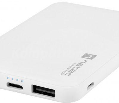 Natec Extreme Media Trevi Compact 5000 mAh 2x USB-A + 1x USB-C biały NPB-1541