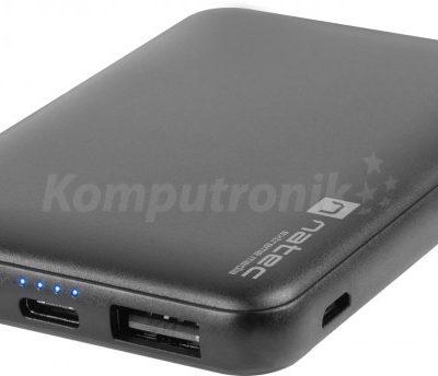 Natec Extreme Media Trevi Compact 5000 mAh 2x USB-A + 1x USB-C czarny NPB-1544